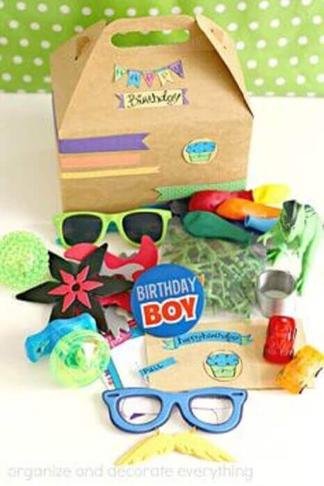 fun items for children's box party - Foto Pinterest
