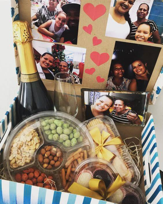 Box party with chandon and practical foods to celebrate with the family