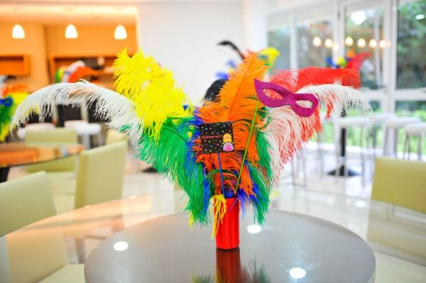 Colourful decoration inspired by masquerade ball