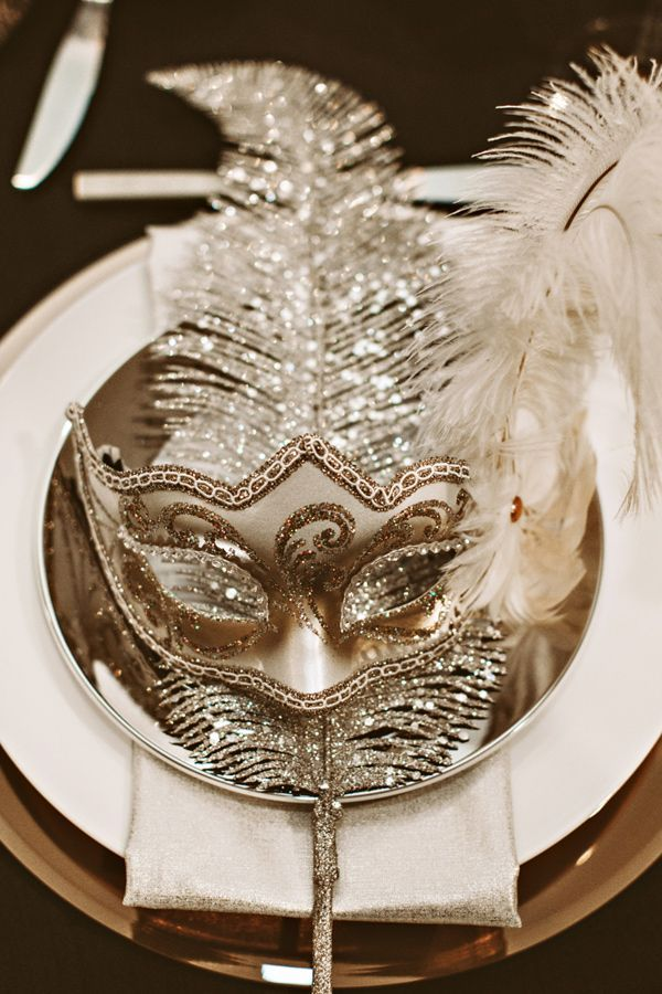 Gold party ball mask