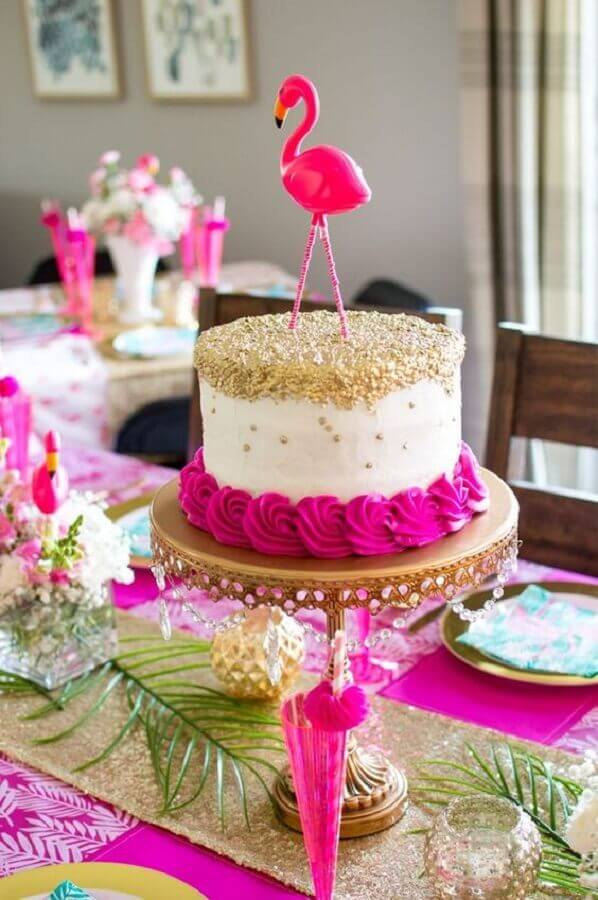 Flamingo Party Cake Photo The Blue Eyed Dove