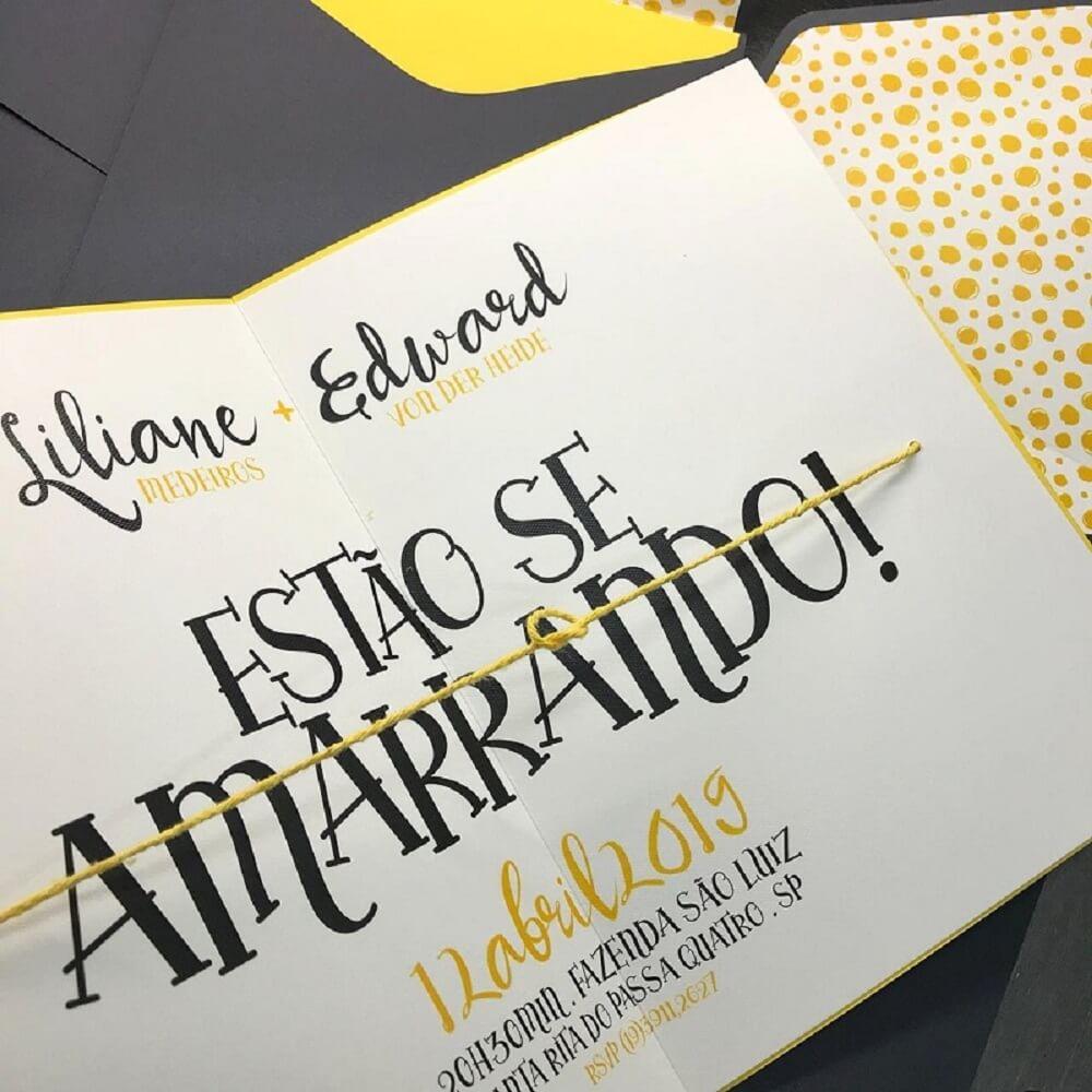 Simple and creative wedding invitation model