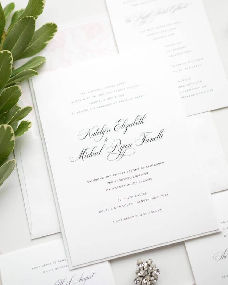 simple and stylish wedding invitation