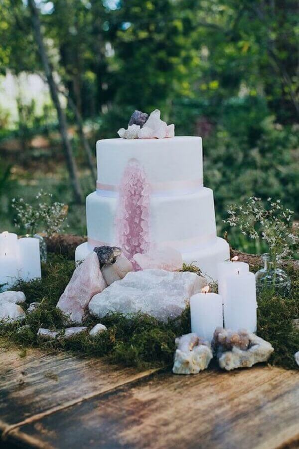 crystal wedding cake Foto Pinterest
