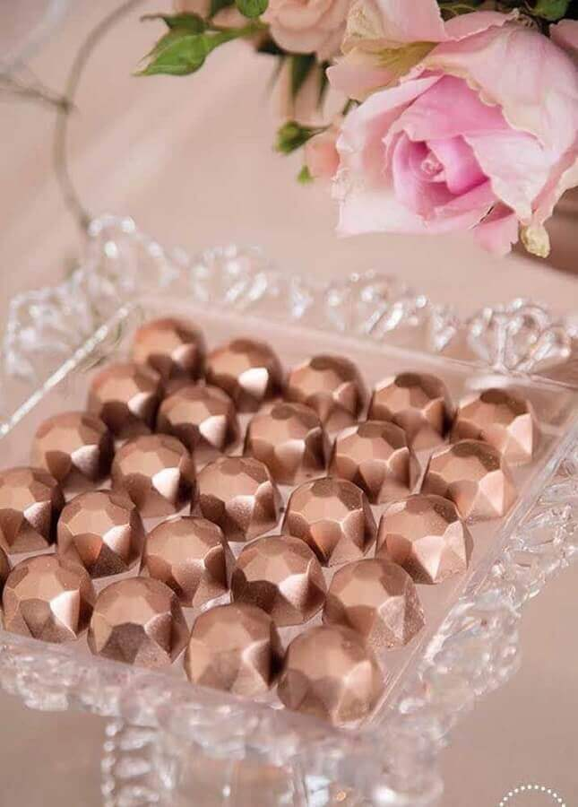 modern candies with copper finish for crystal wedding party Photo 100 Layer Cake