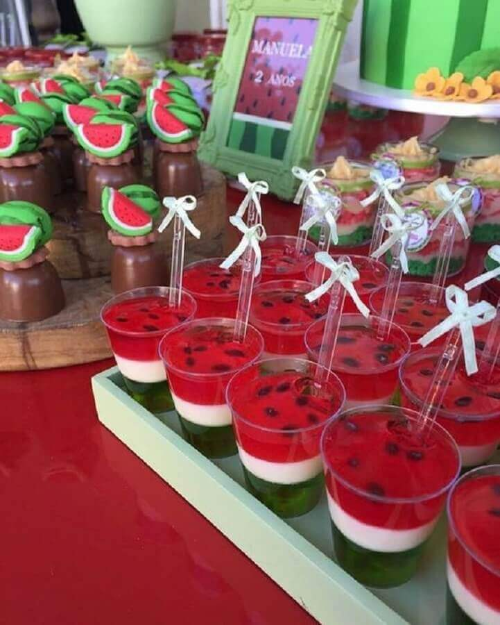 magali's party sweets table decorated jellies Foto Pinterest
