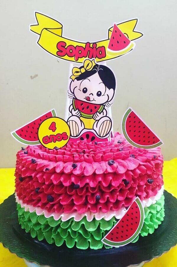 idea of decorated cake for magali party Foto Webcomunica