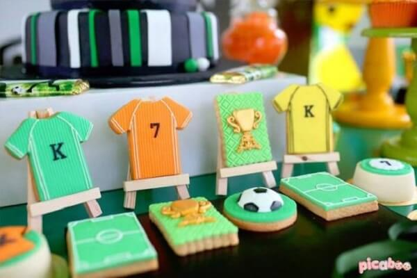 Creative biscuits made with a football theme