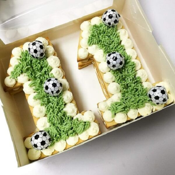 Football theme party ideas cake in the box