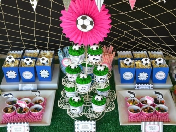 Football theme party ideas for girls
