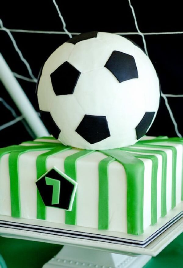 Custom cake for football theme party