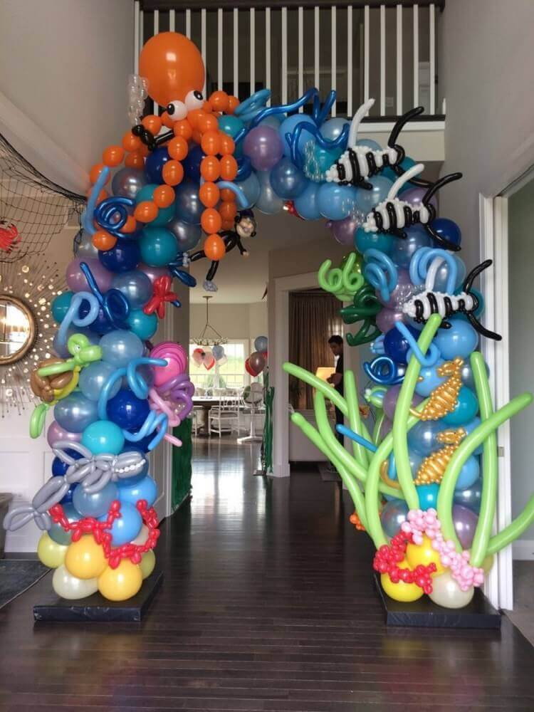 deep-sea theme party decorated with bladder bow Photo Celebrations Cake Decorating