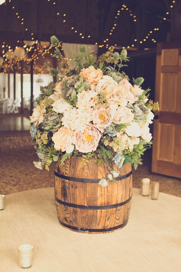 rustic wedding barrel