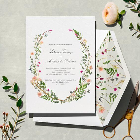 Invitation garden enchanted with flower print inside Photo by Pinterest