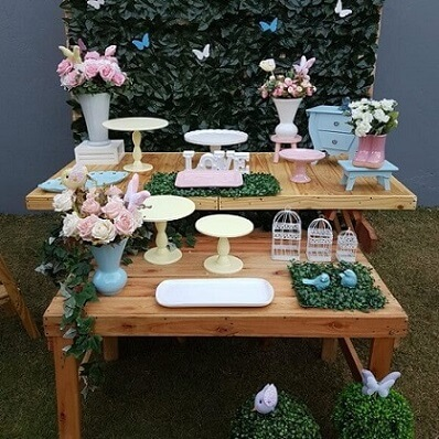 Table in party garden enchanted outside Photo of Imagine & Celebrate