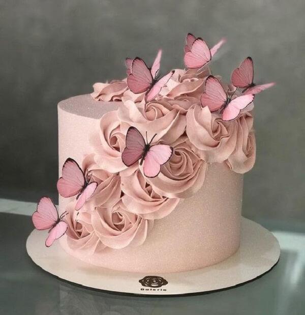 Delicate cake for enchanted garden party