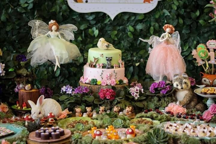 Enchanted garden party with animals and fairies Photo of Finding Ideas