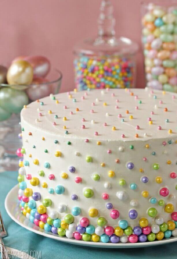 simple decorated cakes with coloured confectionery Photo Johlene Orton