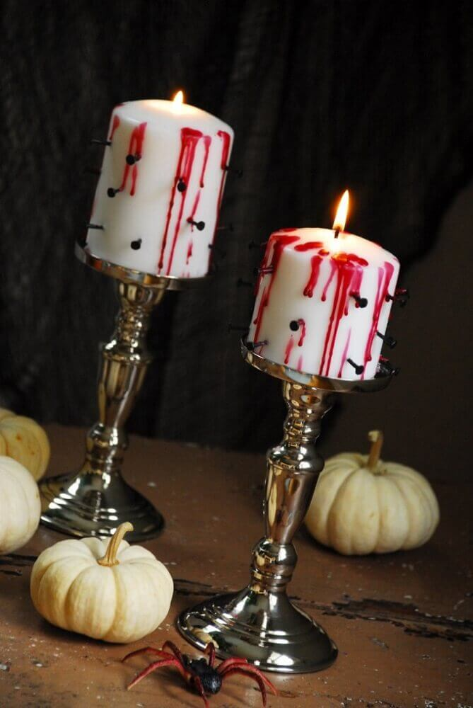 candles decorated for Halloween Photo The Senpai King