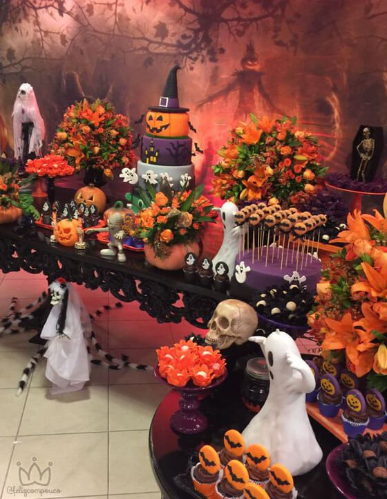 Halloween party with modern decoration