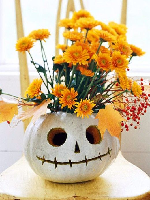 Halloween decoration with flowers