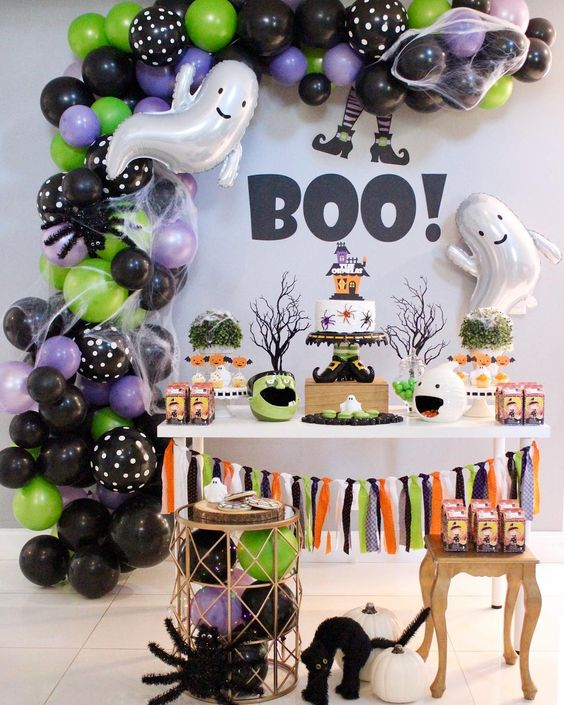 Halloween decoration at the modern party