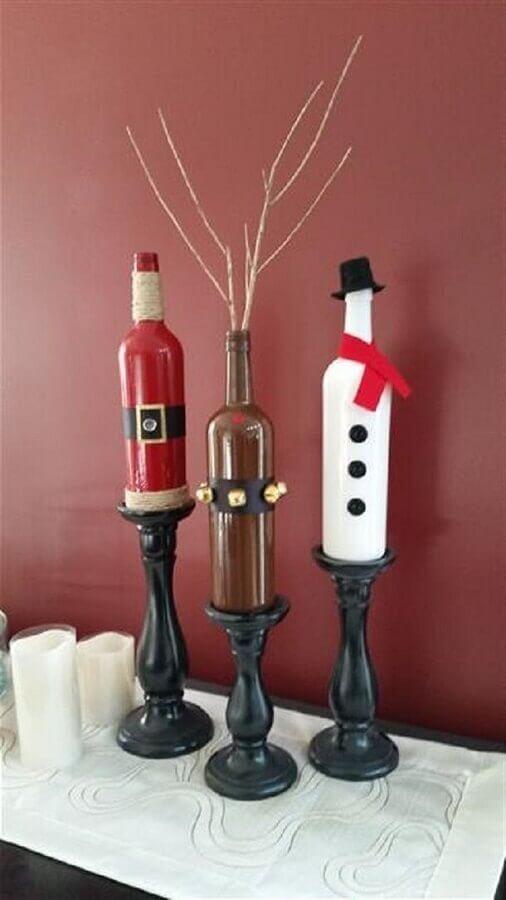 Christmas decorated bottles Foto Pinterest