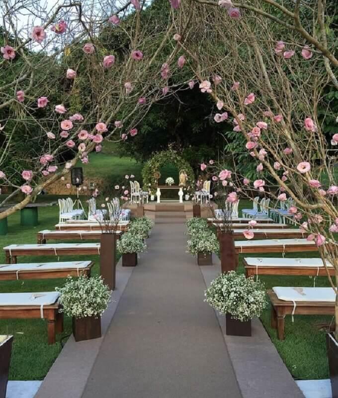 simple outdoor wedding Foto Pinosy
