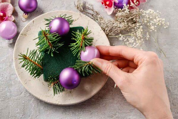 """Christmas table center in style """"do-it-yourself"""""""