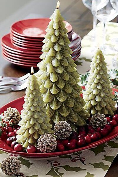 Table centre with Christmas trees