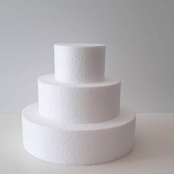 Styrofoam model for fake cake