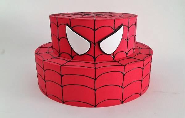 Simple fake cake Spider-Man