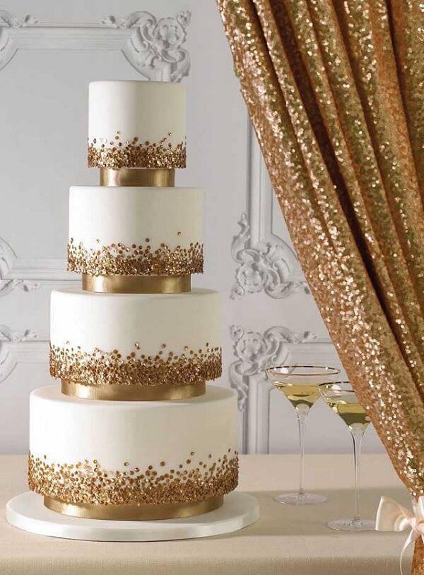 Four-story fake wedding cake
