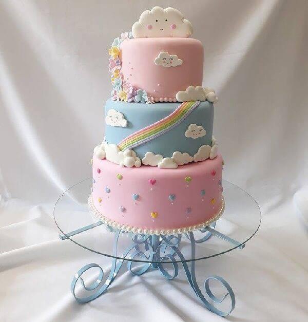 Cake model fake rain of love