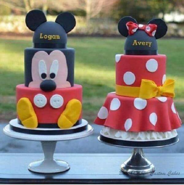 Minnie and Mickey fake cake models
