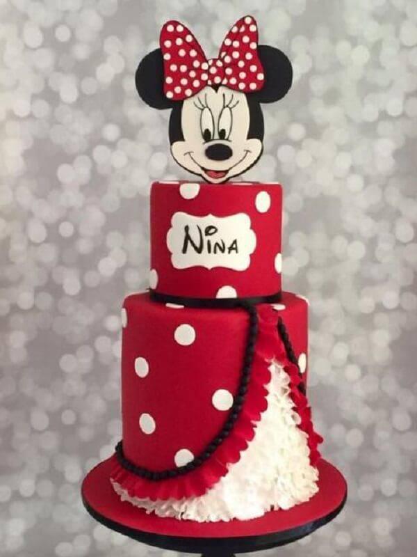Minnie fake cake model