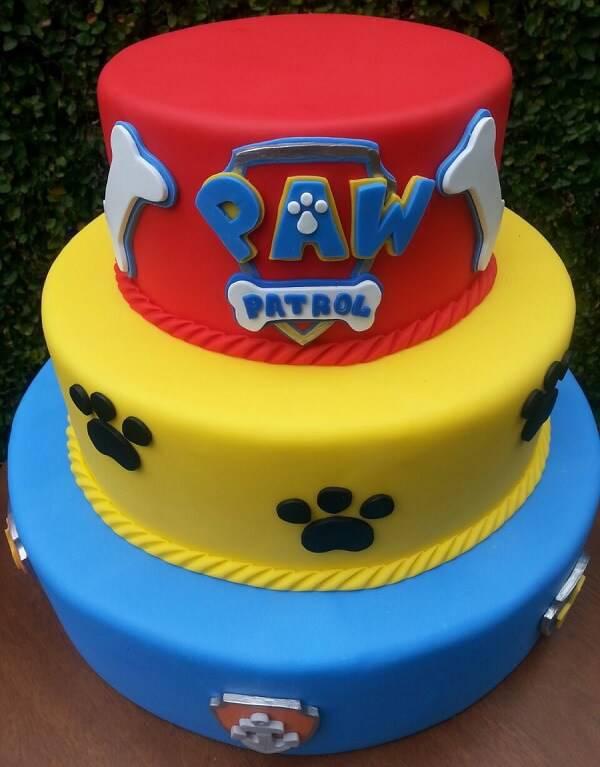 Canine Patrol fake cake