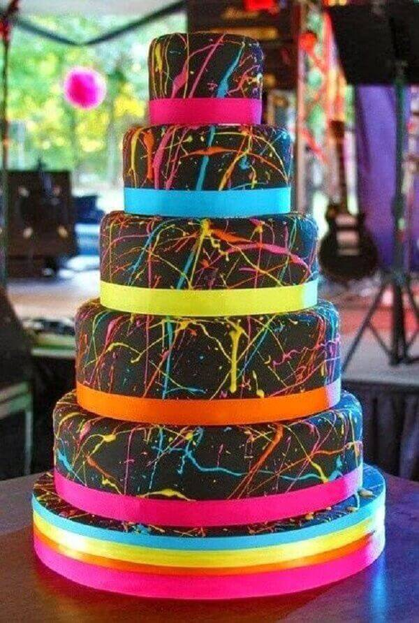 Fake cake model with neon details