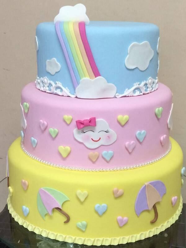Love rain cake fake model