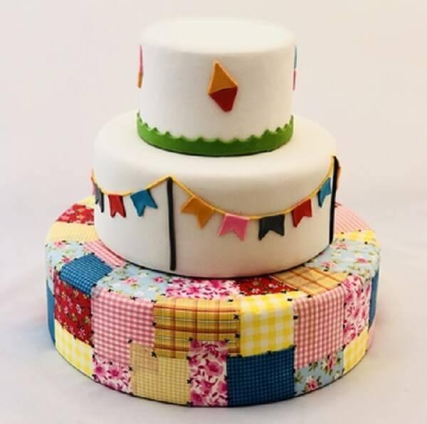 Festa Junina cake fake model