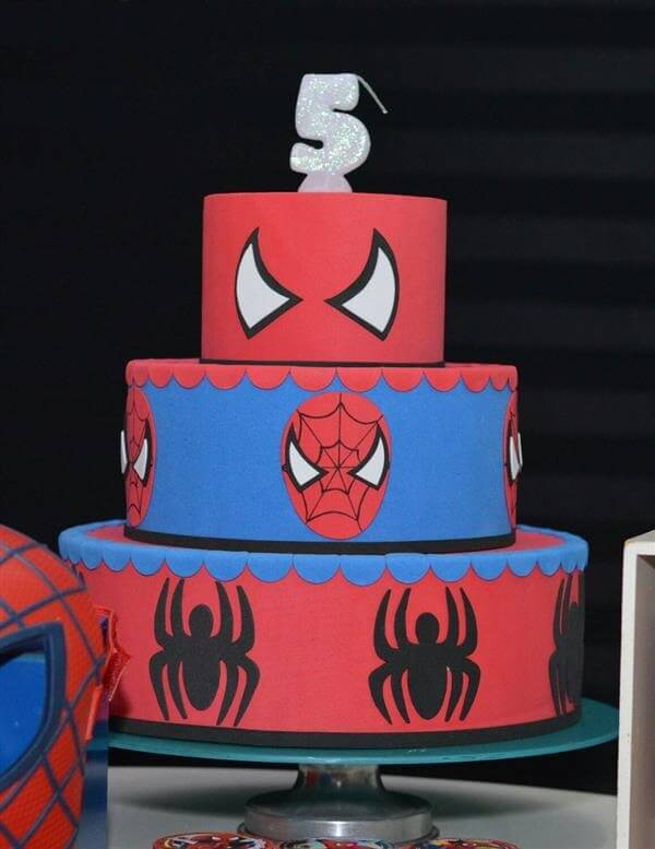 Spider man fake cake model