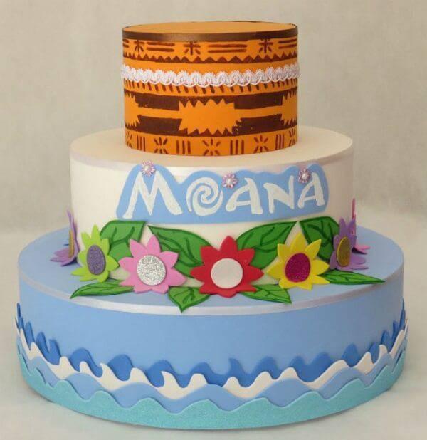 Fake cake model inspired by the movie Moana