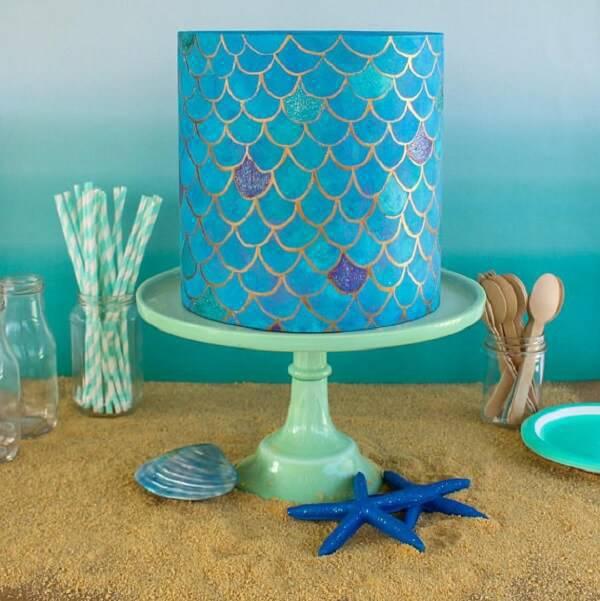 Mermaid fake cake model