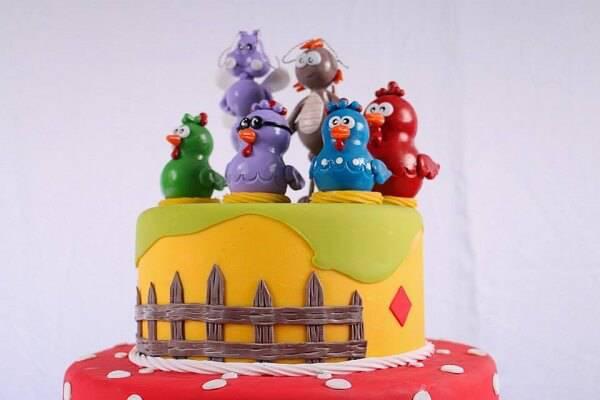 Chicken fake cake model