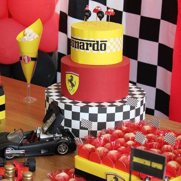 Ferrari fake cake catches the guests' attention