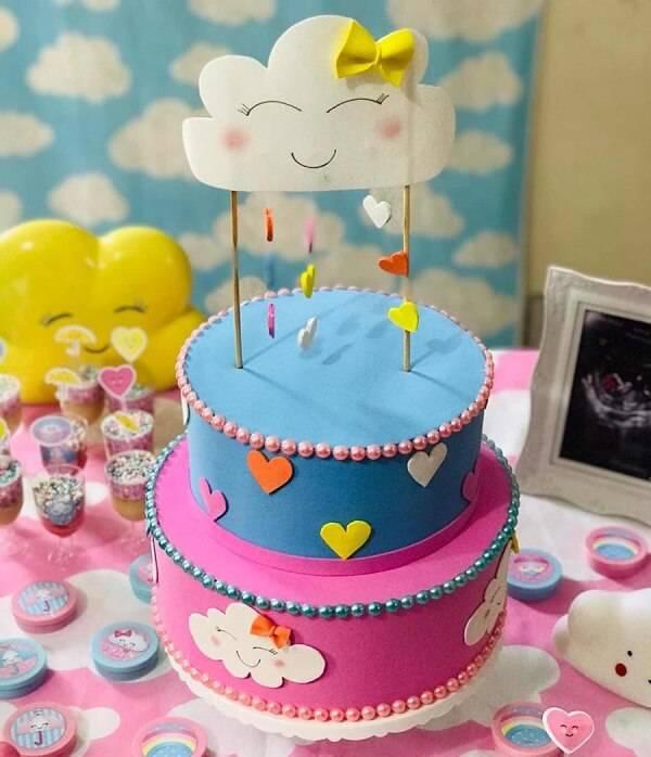 Rain of love fake cake with eva finish