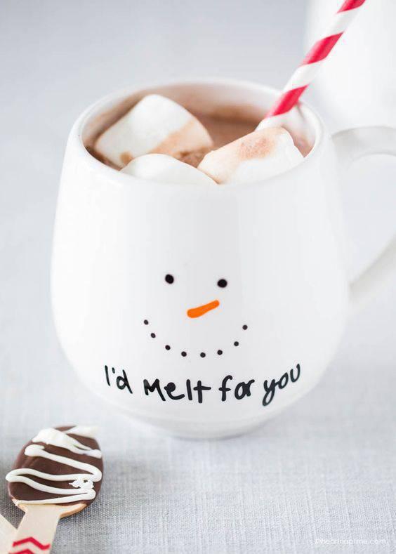 snowman's glass Christmas souvenir