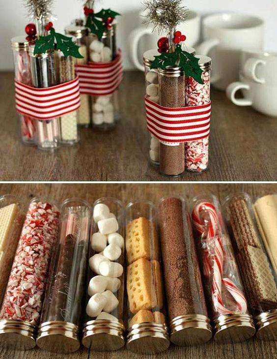 Dry cake ingredients as a Christmas souvenir