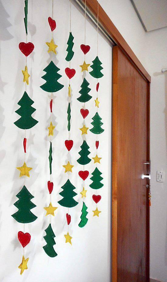 little Christmas souvenir with handcraft curtain