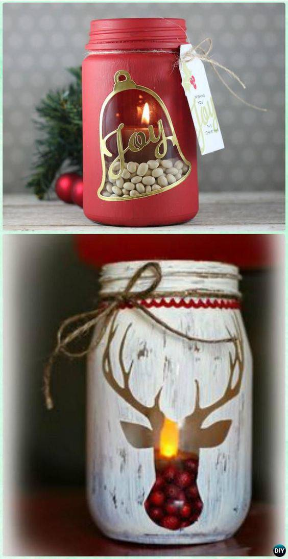 christmas souvenir with red decorative candle